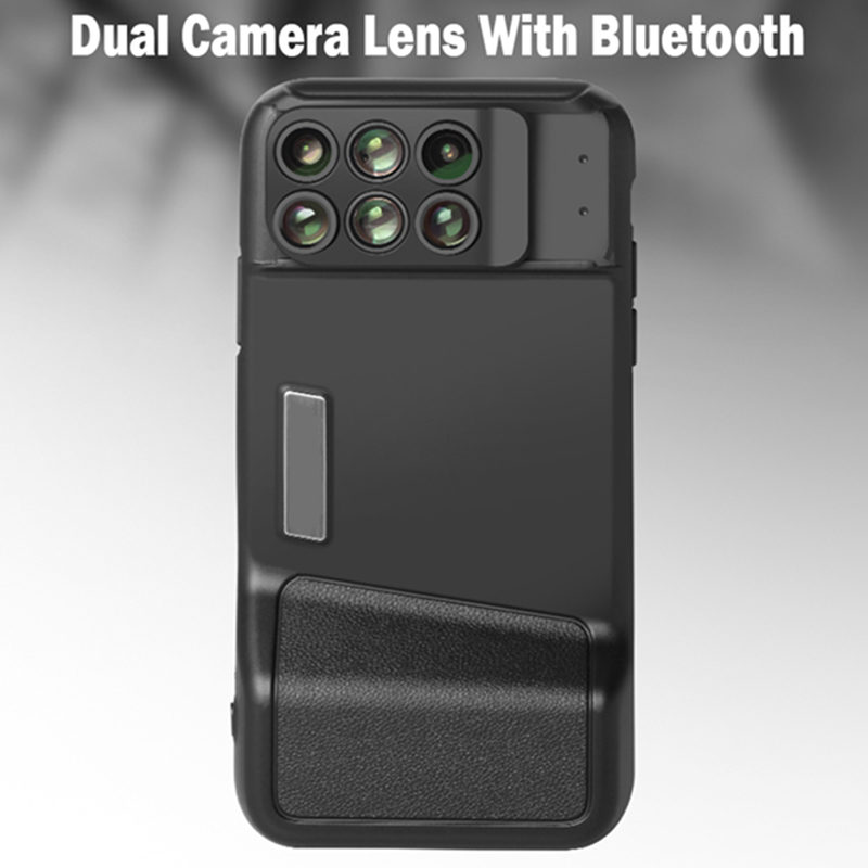 outlet store sale cce67 f73c8 US $29.27 11% OFF|2018 New For iPhone X Dual Camera Lens With Bluetooth  +Fisheye Wide Angle Macro Lens For iPhone X 10 Telescope Lenses + Case-in  ...