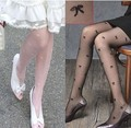 Princess sweet lolita pantyhose summer thin Gothic sexy black and white bow tight Breathable long plus cheap pantyhoses