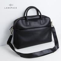 Lanspace мужской кожаный портфель бренд высокого качества из коровьей кожи Бизнес Сумочка Топ сумка для ноутбука