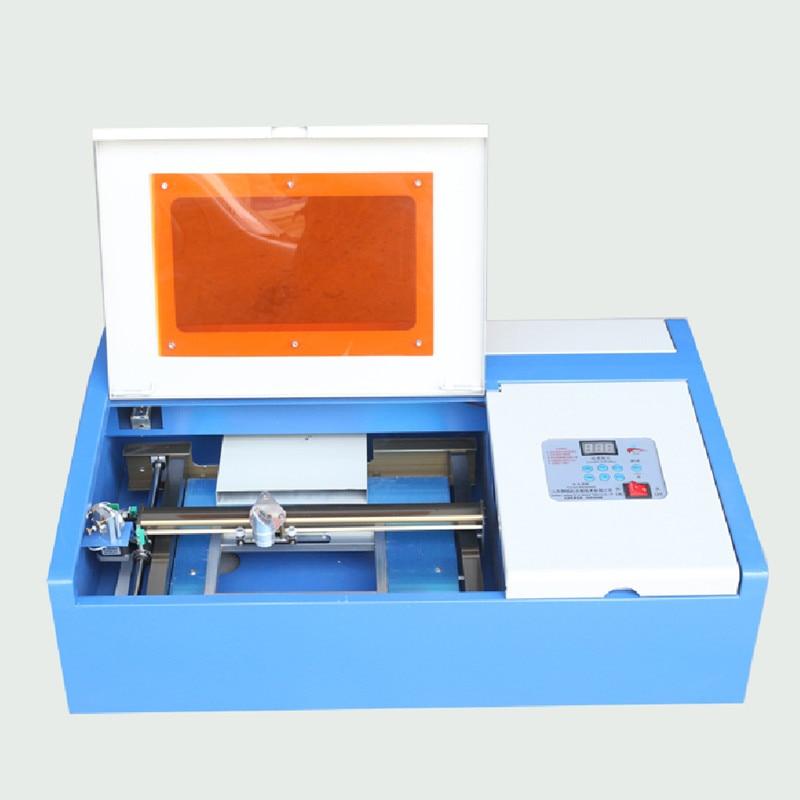 3020 bureau 40 watts 300x200mm Mini co2 laser gravure machine de découpe avec plate-forme haut et bas 320