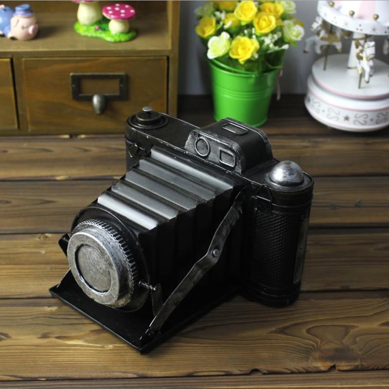 Tin SLR Telescopic Camera Model Furnishing Articles Photography Props Showcase Furnishing Articles Creative Home Decoration