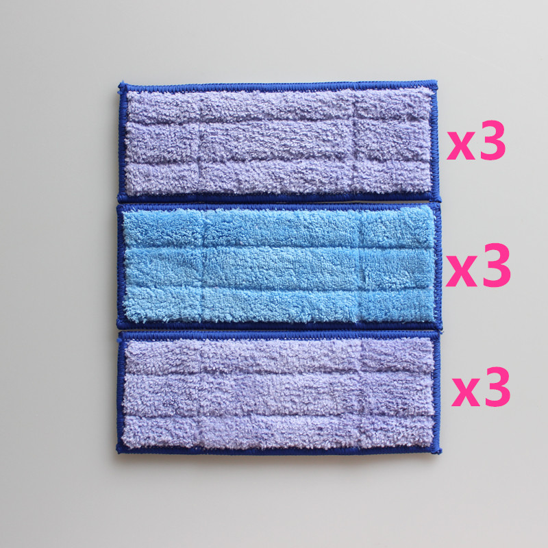 Microfiber Washable wet & damp & dry sweeping Pad mopping pads for iRobot Braava Jet 240 microfiber wet room pads 24 in long split nylon polyester blend blue