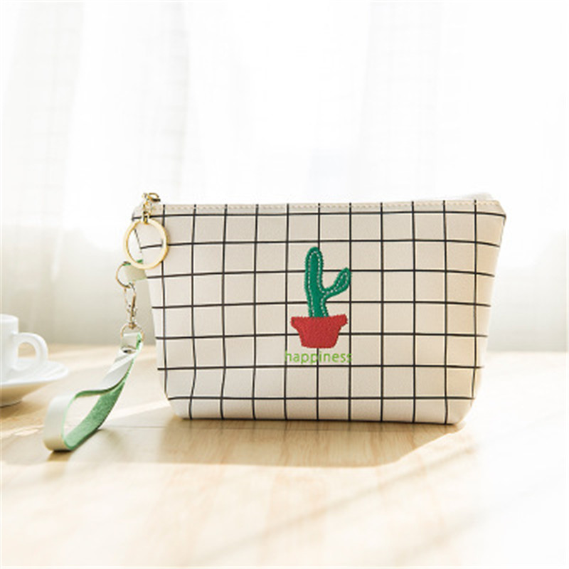 NIBESSER Cactus Embroidered Women Cartoon Bag Girls Purse Lovely Money Bag Change Pouch Coin Key Holder Portable Simple Wallet