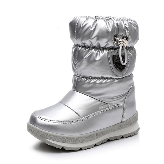ULKNNฤดูหนาวรองเท้าสำหรับชายหญิงเด็กรองเท้า2018ใหม่กันน้ำBotasหนาSnow Gold Darkสีเขียว26 27 28 29 30ขนาด