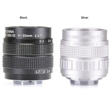 Haute qualité Fujian CCTV 35mm f1.7 Lentille Monture C Pour Sony NEX 5 NEX 3 NEX 7 NEX 5C NEX C3 NEX