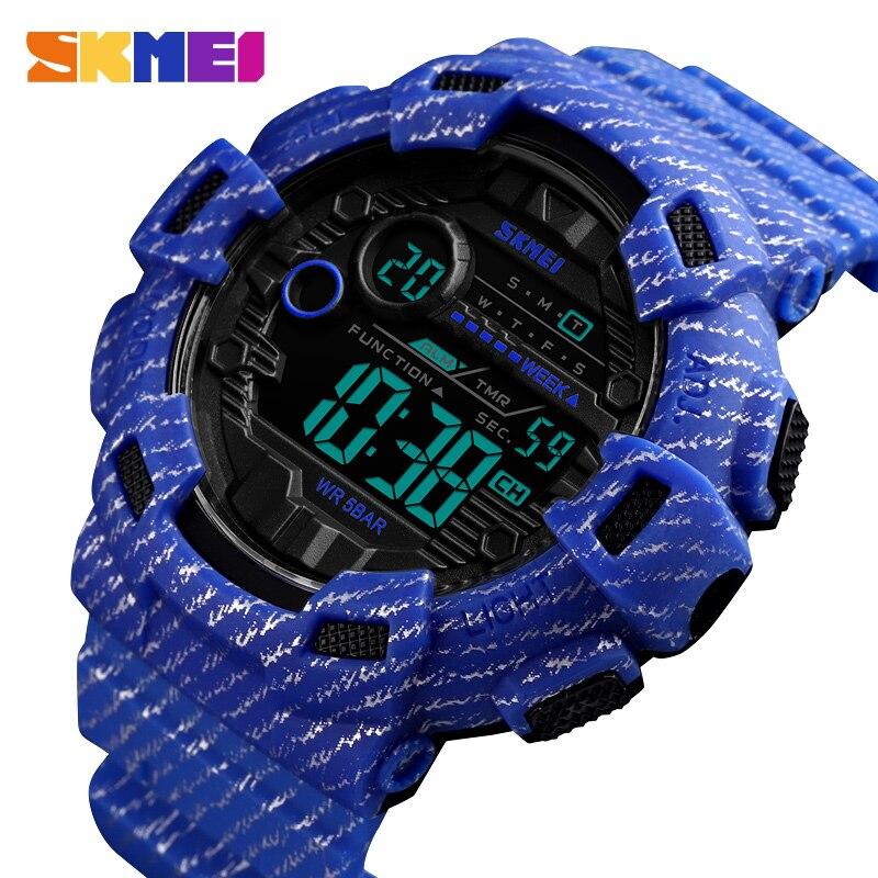 Novo relógio de pulso homem do esporte digital reloj hombre dois tempo crono despertador hora moda relogios homem topo da marca skmei - 2
