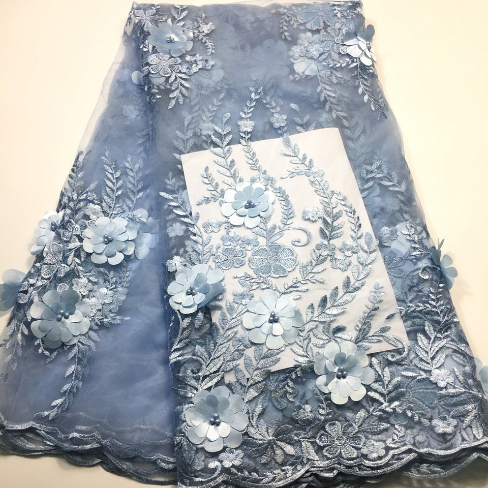 Arts,crafts & Sewing Alisa African Lace Fabric 2018 High Quality Lace Dress French Voile Lace Fabric 3d Flower With Sequins For Women Wedding Dress Vivid And Great In Style