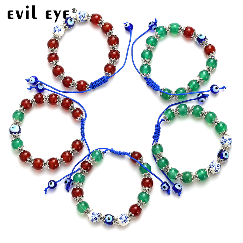 Trend Mark Evil Eye High Quality Free Shipping New Fashion Stone Charm Blue Rope Bracelet With Blue Eyes Gift For Women Man Ey4707 Jewelry & Accessories