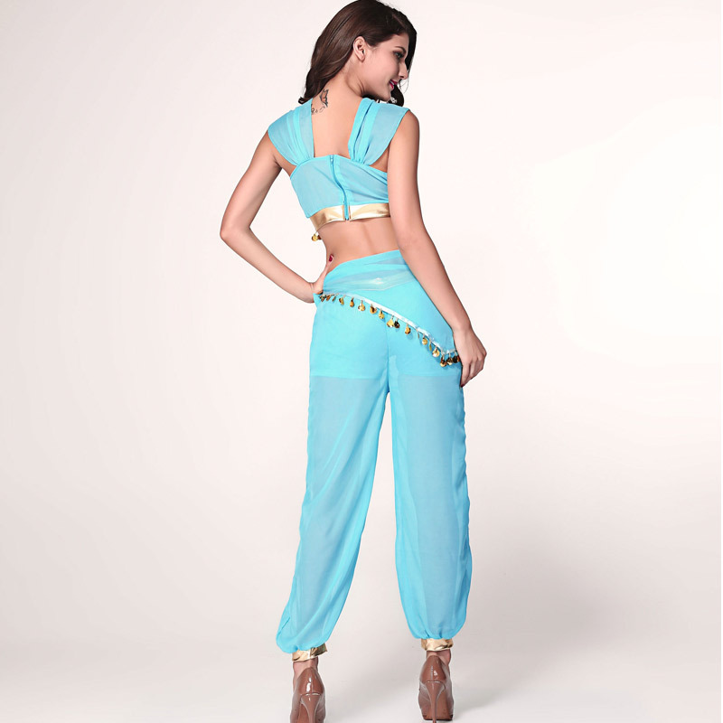 princess jasmine costume adult deluxe belly dance aladdin halloween costume indian arabian princess cosplay on aliexpresscom alibaba group