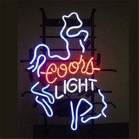 17 14 COORS LIGHT Outdoor NEON SIGN Signboard REAL GLASS BEER BAR PUB LIGHT Billiards Store