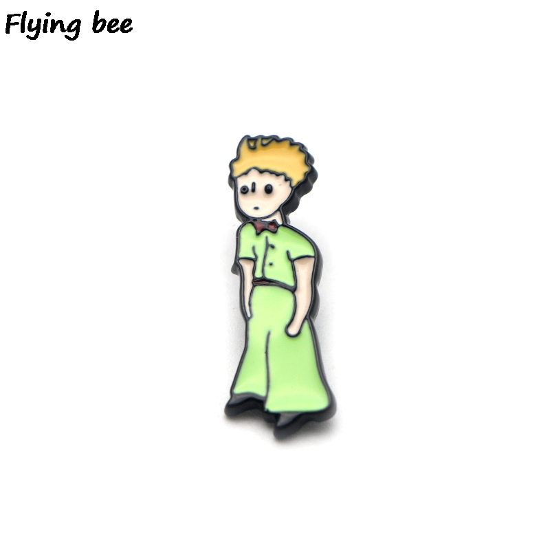 Flyingbee Le Petit Prince Enamel Pin For Clothes Bags Backpack badge Personality Brooch Shirt Lapel Pins X0206