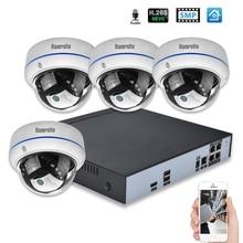 Hamrolte CCTV Системы H.265 4CH POE NVR 5MP купольная POE Камера POE NVR комплект HDMI видеовыход Смартфон дистанционного обнаружения движения