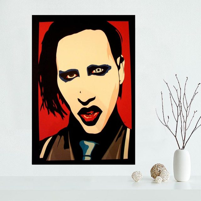 Online Shop New arrival marilyn manson Canvas Poster Hot Sale Custom ...