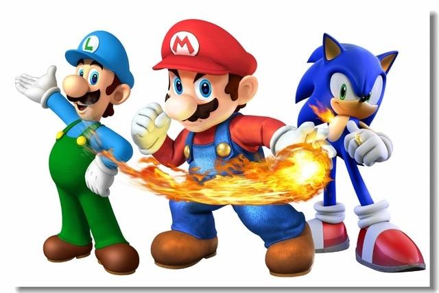 Custom Canvas Wall Murals Super Mario Poster Super Smash Bros Wall