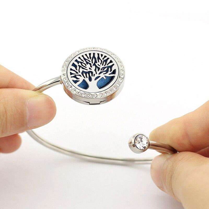 Topdan 25mm Gümüş Kristallar 316L Paslanmayan Polad Aromaterapiya - Moda zərgərlik - Fotoqrafiya 6