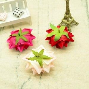 Image 5 - 100 adet kaliteli yapay çiçekler için noel ev dekorasyonu düğün gelin aksesuarları diy çelenk hediyeler bir kap ipek güller