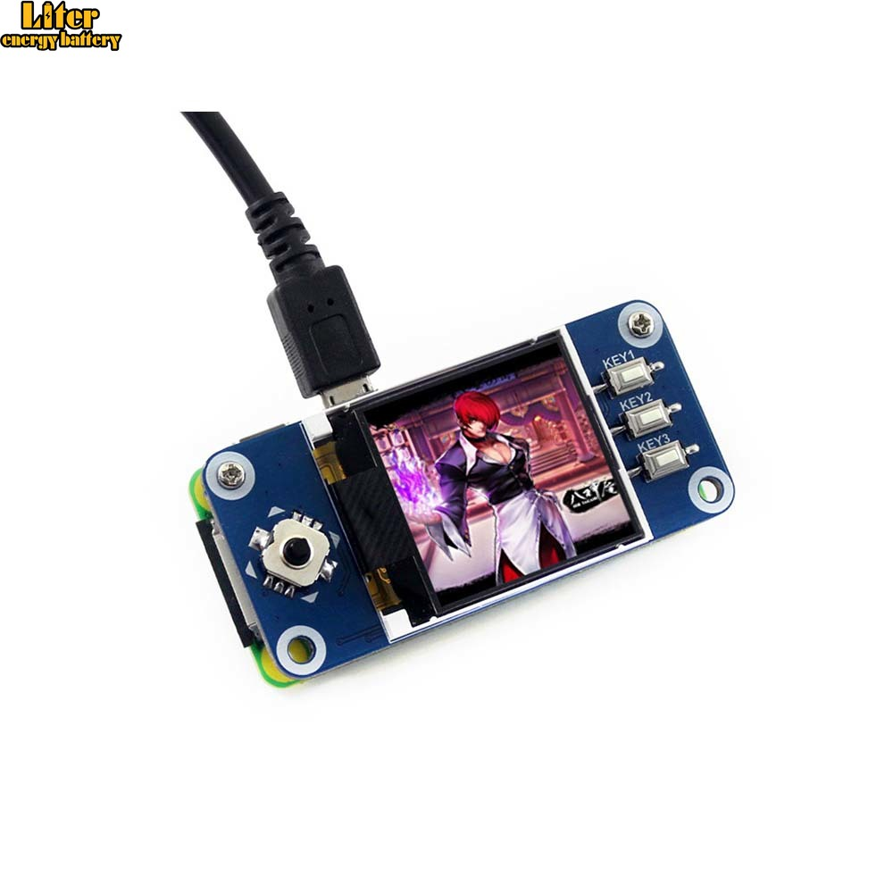 1.44inch LCD Display HAT For Raspberry Pi 2B/3B/3B+/Zero/Zero W,128x128 Pixels,SPI Interface,ST7735S Driver