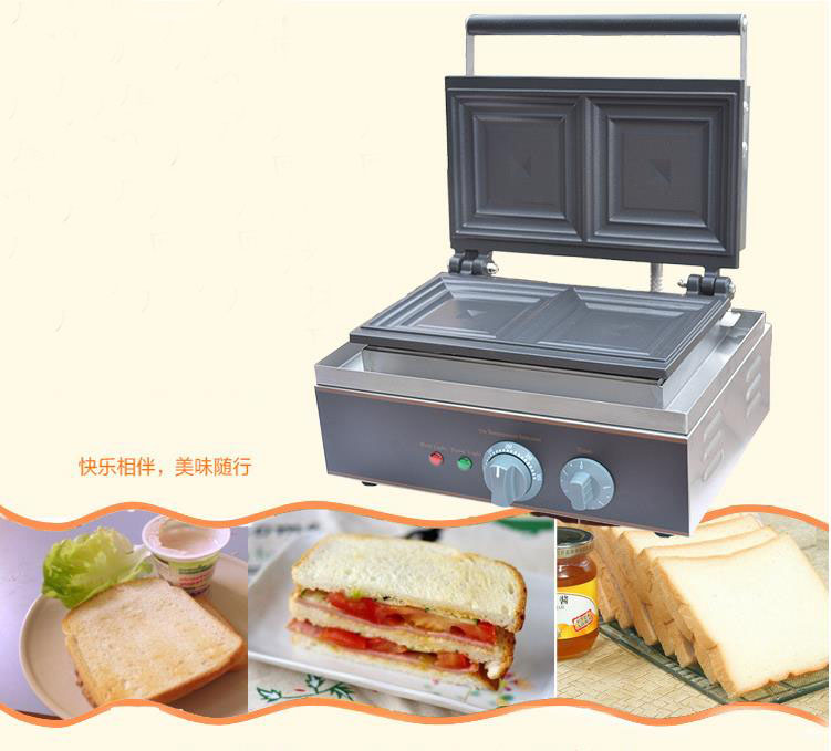 Free shipping 110v 220v Electric Sandwich Toaster Press Maker