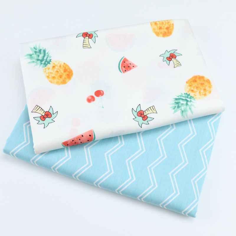 2018 Новая печатная саржевая хлопковая ткань, Лоскутная Ткань для шитья своими руками, стеганый материал для детей и малышей