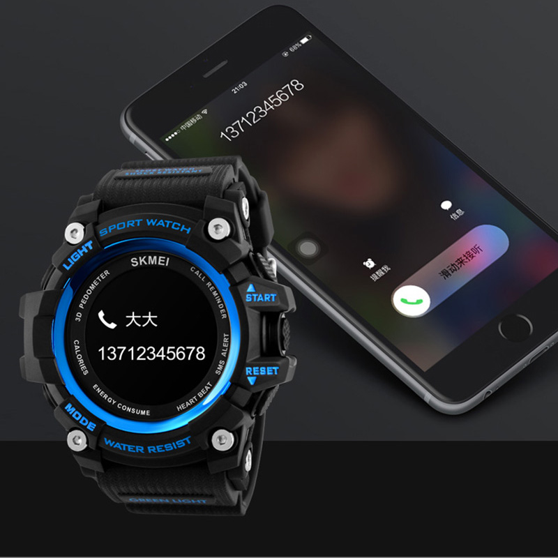Smart Watch Men Heart Rate Sport Watches Bluetooth Pedometer Calorie rechargeable Digital Wristwatch Relogio Masculino SKMEI huayi 10x20ft wood letter wall backdrop wood floor vinyl wedding photography backdrops photo props background woods xt 6396