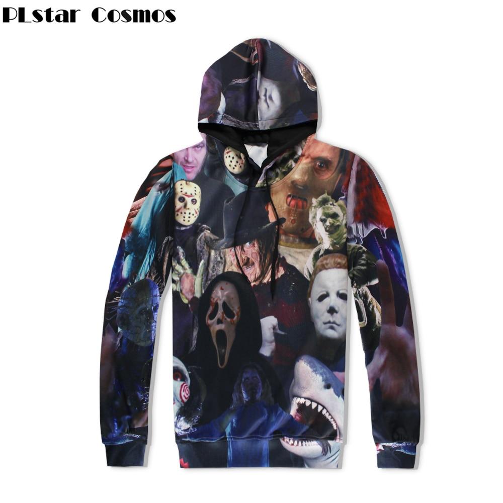 PLstar Cosmos Harajuku Männer/Frauen Hoodies 3D All Over Print Horrorfilm Killers/Halloween Teufel/Shark/Zombie Sweatshirt hoodie