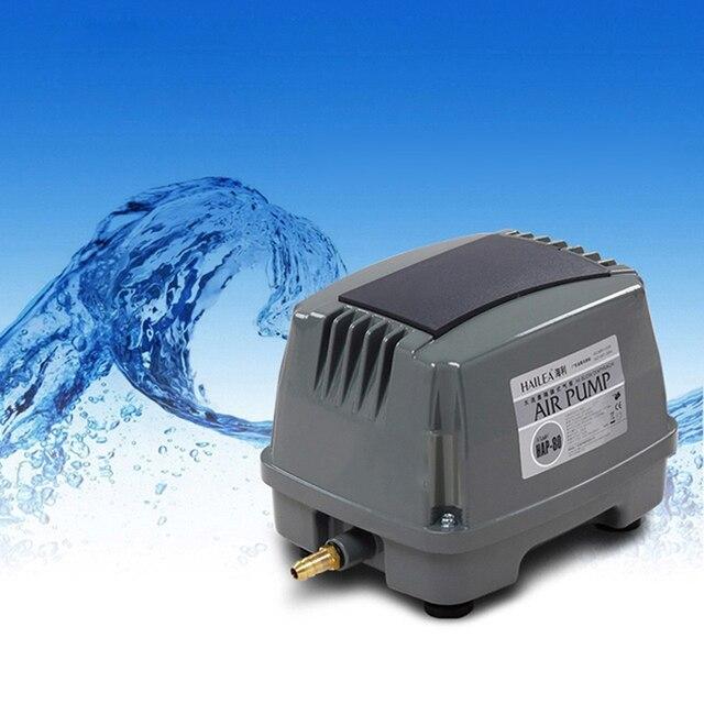 60W 80L/min HAILEA HAP-80 Hiblow Aquarium Fish Tank Septic Oxygen Air Pump Aqua Air Blower Hydroponics Koi Pond Air Compressor
