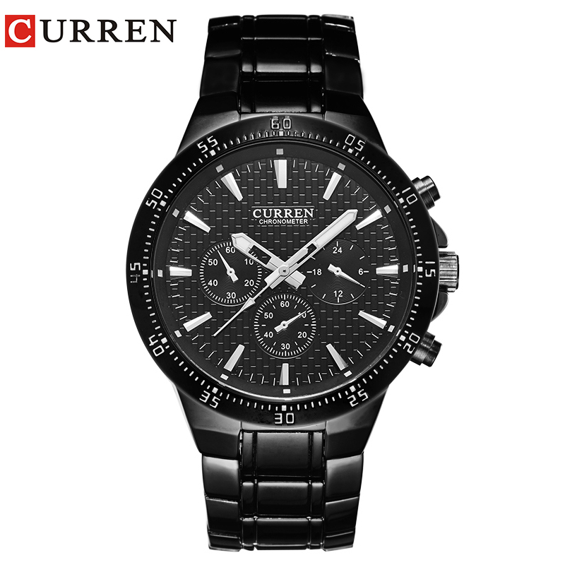 curren men watch blackcat quartz analog male clock curren fashion wrist watch band men's hot New with tags 8063 curren m8113
