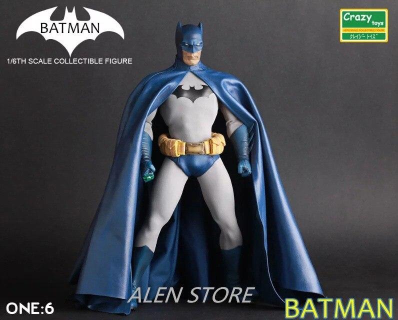 ALEN Batman Blue Ver. Variant Action Figure Blue Joint Movable Ver. Batman PVC Figure Toy Brinquedos Anime 30CM shfiguarts batman injustice ver pvc action figure collectible model toy 16cm kt1840