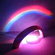 Funny Romantic LED Rainbow Projector Color Night light Mood Lamp For House Decor