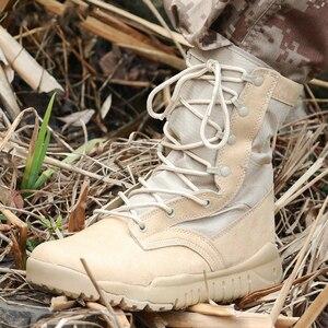 Image 2 - Jesień Ultra lekkie męskie buty taktyczne siły specjalne buty wojskowe męskie Outdoor wodoodporne antypoślizgowe buty górskie buty do podróży