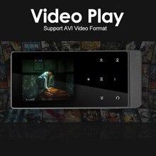 Date mp4 lecteur bluetooth tactile écran 2.0 pouce Double Audio Sortie Métal Sans Perte Lecteur de Musique avec FM eBook Enregistreur Podomètre