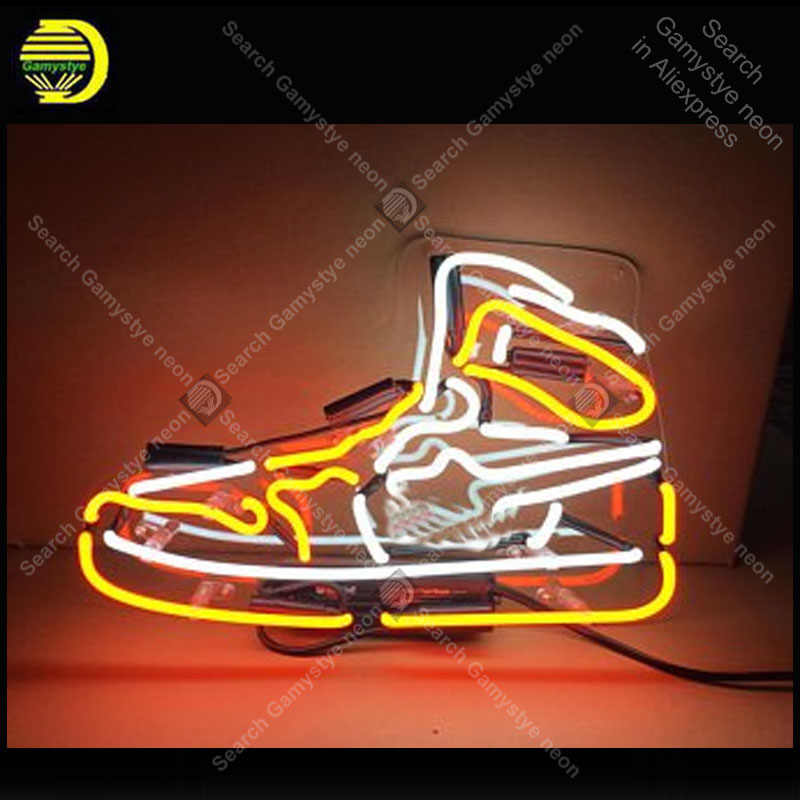 a3cae37dff2998 Neon Sign Brand LOGO shoe STORE Neon Sign Real Glass Tube Shop Display Neon  Bulb Signboard