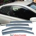 4 шт./лот Для Subaru Forester 2013 2014 2015 Окна Автомобиля Visor Sun Дождь Щит Крышки Внешней Отделки Авто Аксессуары