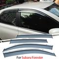 4 pçs/lote Para Subaru Forester 2013 2014 2015 Janela Do Carro Da Viseira Sun Chuva Escudo de Cobre Exterior Decoração Auto Acessórios