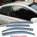 4pcs/lot For Subaru Forester 2013 2014 2015 Car Window Visor Sun Rain Shield Covers Exterior Decoration Auto Accessories