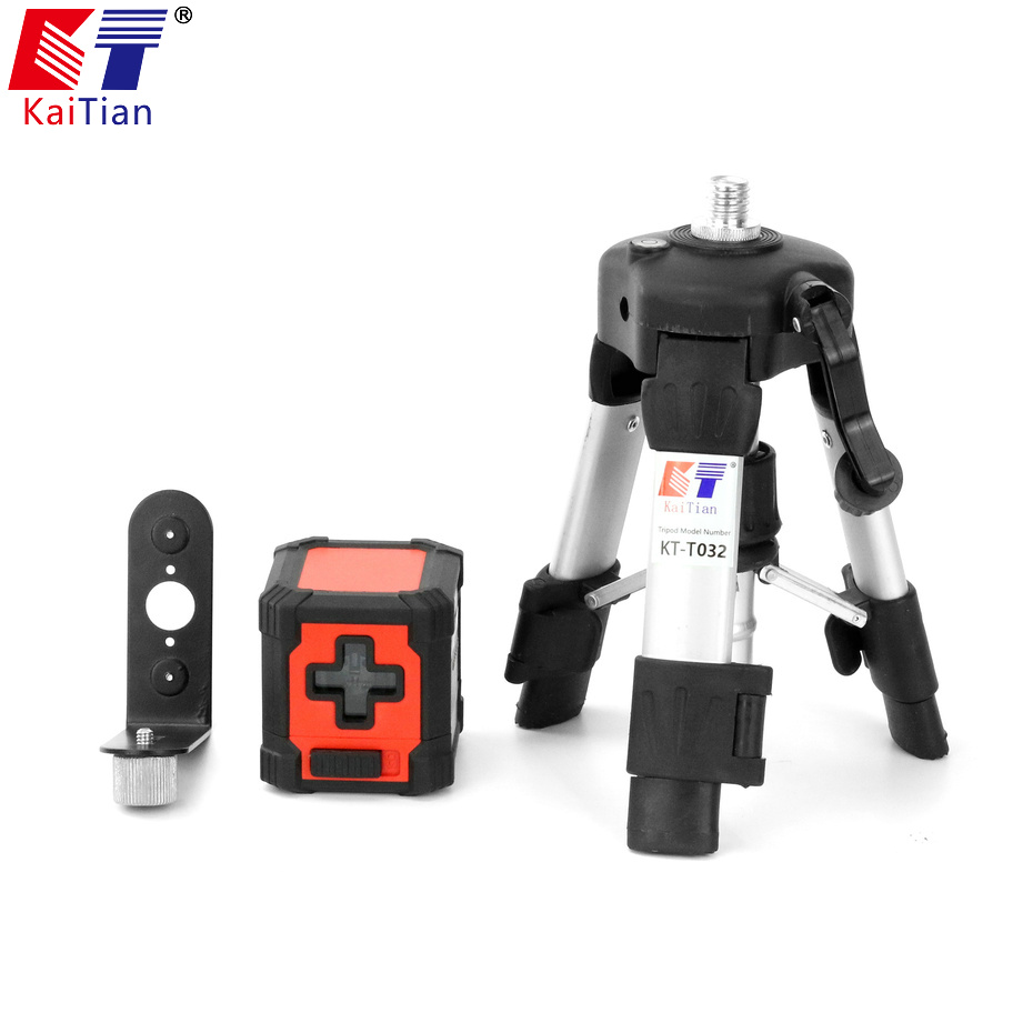 Kaitian Nivel Laser 2 Lines Self Levelling Lazer Level Portable Tools Outdoor Magnetic Bracket Horizontal Vertical Laser Line high quality southern laser cast line instrument marking device 4lines ml313 the laser level