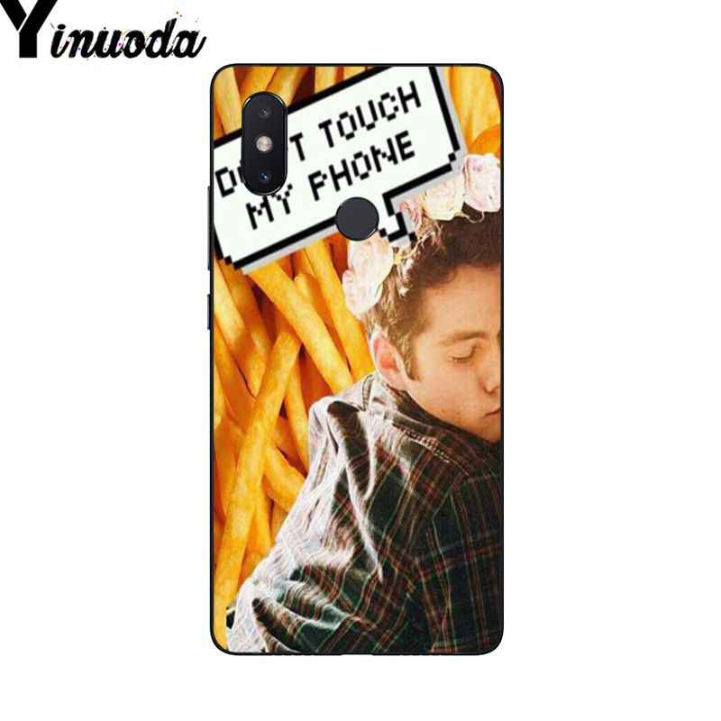 Dylan O'Brien Yinuoda Teen Wolf Coque Shell Caixa Do Telefone para Xiao mi mi mi mi x2 6 x2S Note3 8 8SE Vermelho mi 5 5 Plus Note4 4X Note5