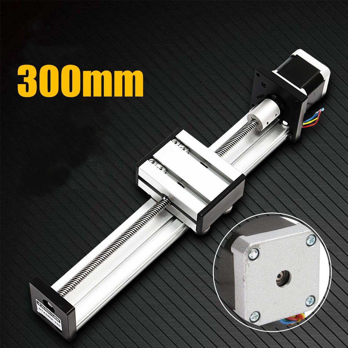 1Pcs 300mm Slide Stroke CNC Linear Motion Lead Ball Screw Slide Stage Stroke 42 Motor Actuator Stepper For Engraving Machine new 500mm slide stroke cnc linear motion lead ball screw slide stage stroke 42 motor actuator stepper for engraving machine