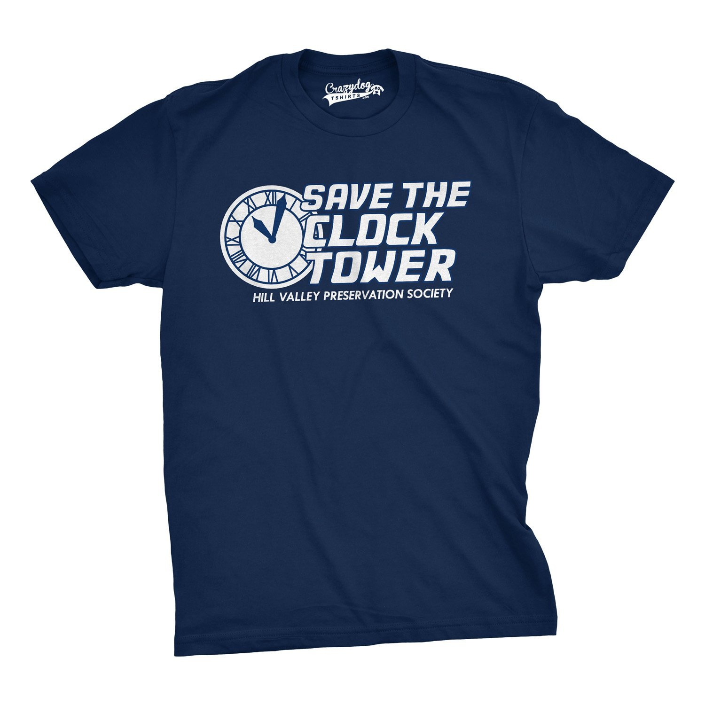 Возьмите сохранить Часовая башня футболка смешной фильм рубашка время путешествия Тройник
