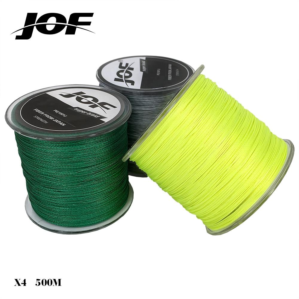 Jof brand braided fishing fishing line 500m for 80 lb braided fishing line