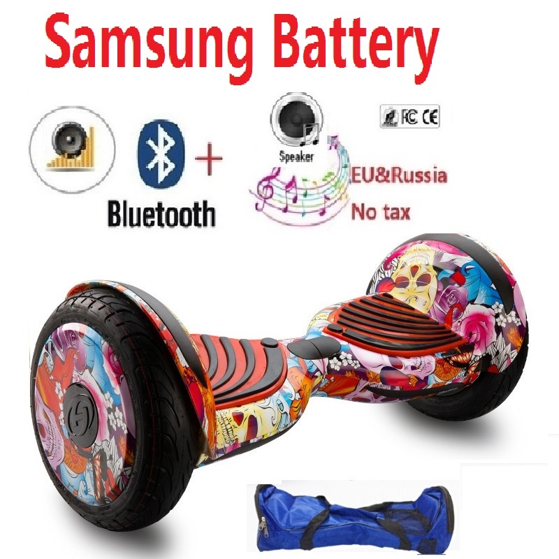 Newest 10 inch Self balancing scooter Samsung battery Hover board Electric scooter Skateboard hoverboard gyroscooter overboard hoverboard 6 5inch with bluetooth scooter self balance electric unicycle overboard gyroscooter oxboard skateboard two wheels new
