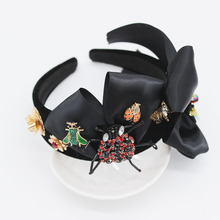 Mới của Châu Âu và Mỹ Baroque headband bọ ong bow tóc phụ kiện thời trang bóng hoang dã headband 1092