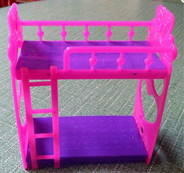1 Set Tempat Tidur Plastik untuk Boneka Mini Kelly Doll Bermain Rumah  Aksesoris Hadiah Mainan untuk 18d59a9412