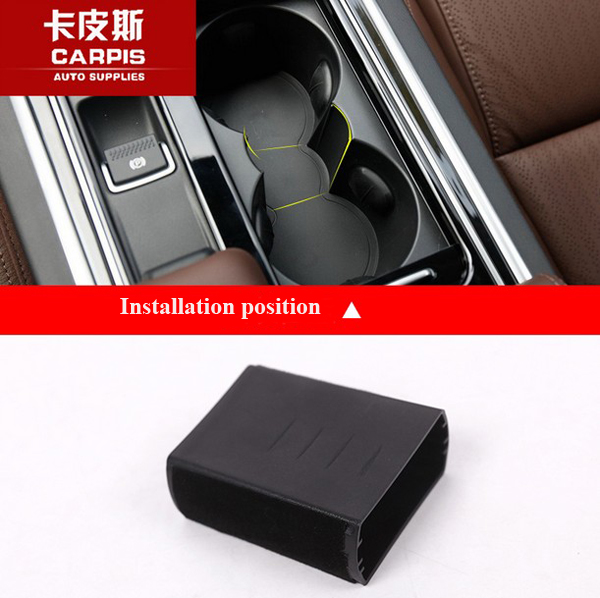 Car Interior Storage Box Cup Holder Tray For Jaguar F-Pace f pace X761 2016 2017 XFL 2017 Accessories Car Styling for jaguar f pace f pace x761 2016 2017