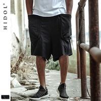 Pocket Cargo Bermuda Shorts Elastic Drawstring Print Capris Jogger Sweatpants Black Brand Clothing Hip Hop Men Streetwear Kanye