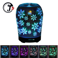 3D Flower Aroma Diffuser Air Ultrasonic Humidifier For Home Air Humidifier Essential Oil Diffuser Lamp With
