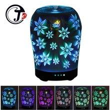 3D цветочный аромат диффузор воздуха ультразвуковой увлажнитель для дома увлажнитель воздуха эфирное масло диффузор лампы с изменением светодио дный свет