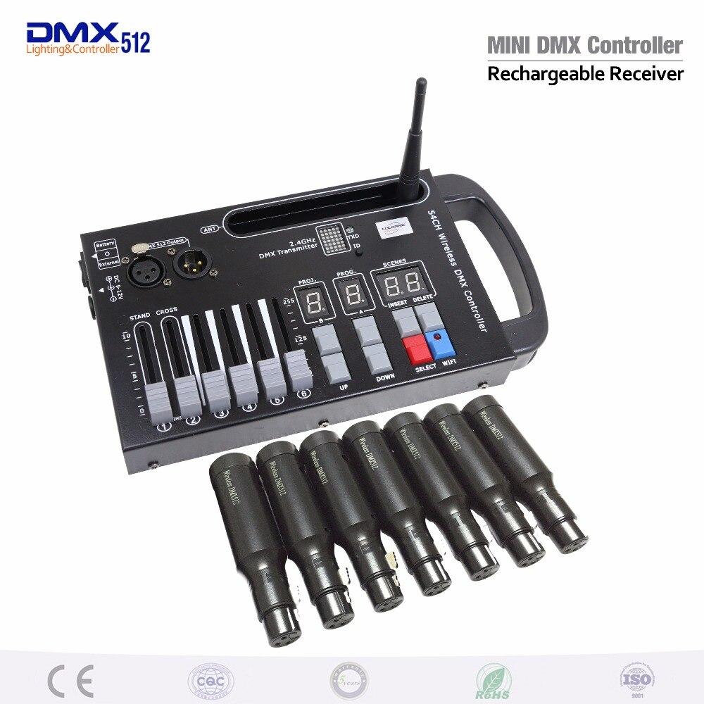 Nouveau récepteur émetteur sans fil DMX LED de contrôle contrôleur de lumière Laser très pratique pour la scène en mouvement