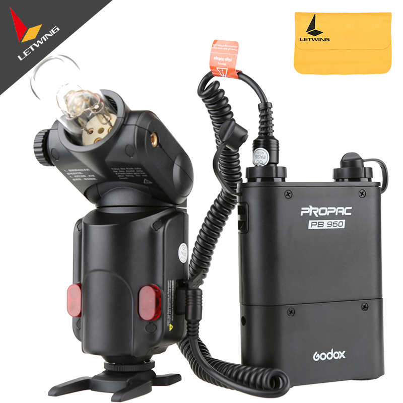 Godox Witstro AD180 AD-180 protable Flash Light Outdoor Speedlite PB960 Battery Power Pack Kit Black For DSLR free tax to russia new 42cm godox ad s3 beauty dish with grid for witstro speedlite flash ad180 ad360