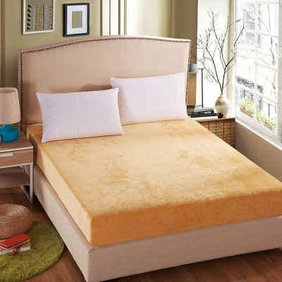 2016 Best Ing Pure Color Thicked Warmed C Fleece Velvet Ed Sheet Cover Mattress Home Living Room In Covers Grippers From